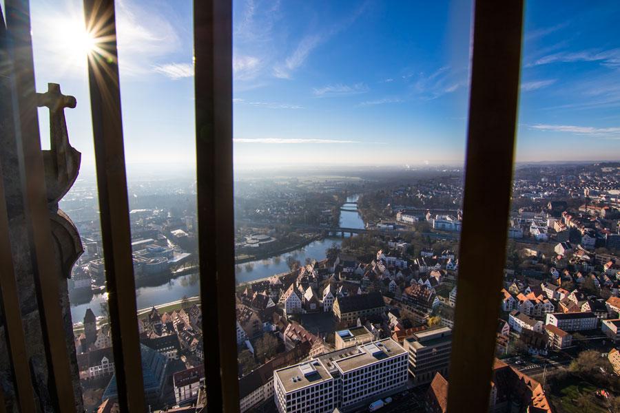 Vistas desde lo más alto de la Catedral de Ulm, Alemania