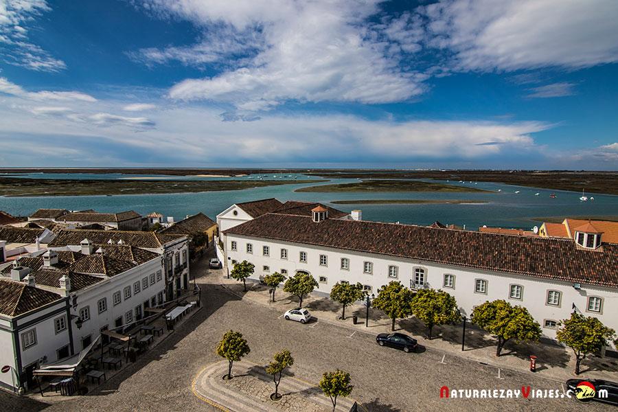 Ría Formosa desde la Catedral de Faro, Algarve
