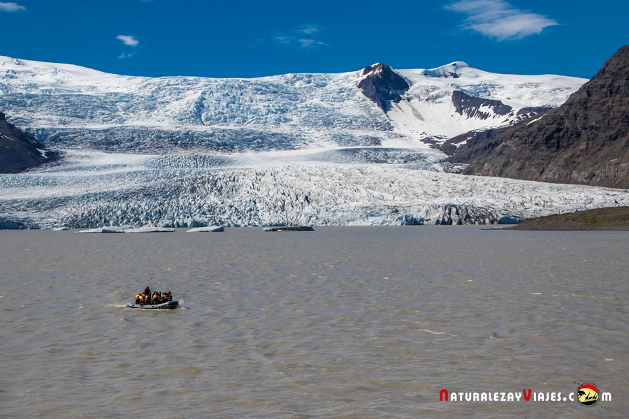Laguna Glaciar Fjallsárlón, Islandia
