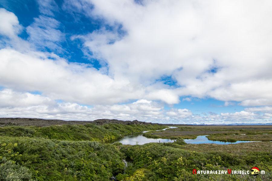 Herðubreiðarlindir en las tierras altas de Islandia