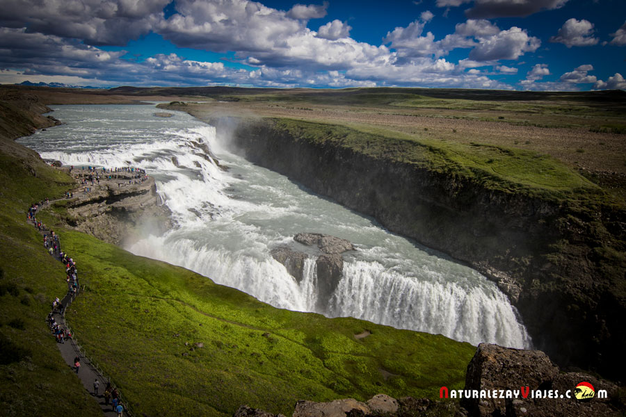 Círculo de Oro en Islandia. Gullfoss, la cascada dorada