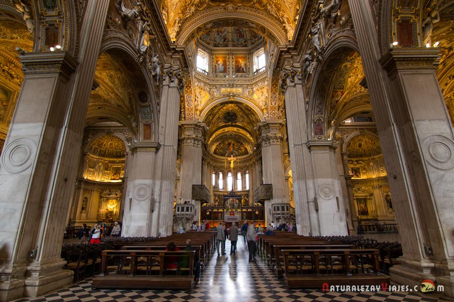 Interior de la Basílica Santa María Maggiore, Bérgamo