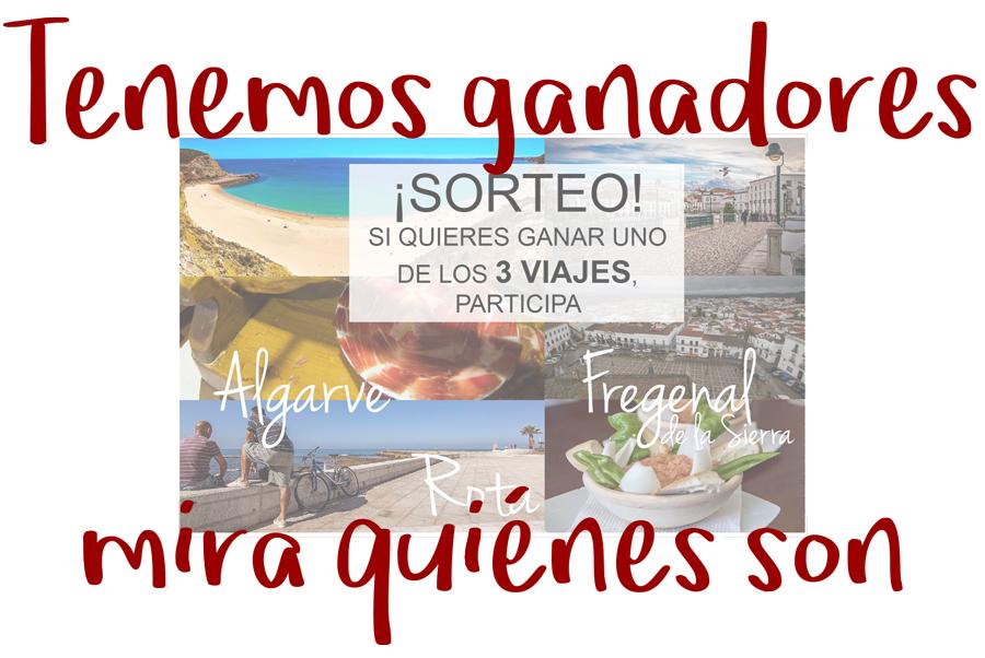 Ya tenemos ganadores del sorteo de 3 viajes por España y Portugal