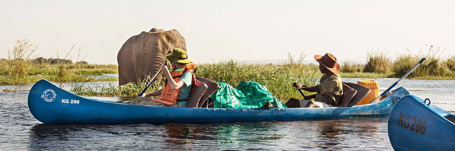 Canoeing, Zambia