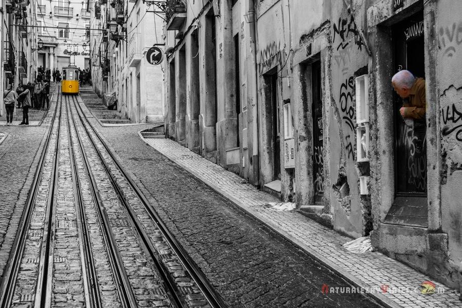 Elevador da Bica, Lisboa en un fin de semana