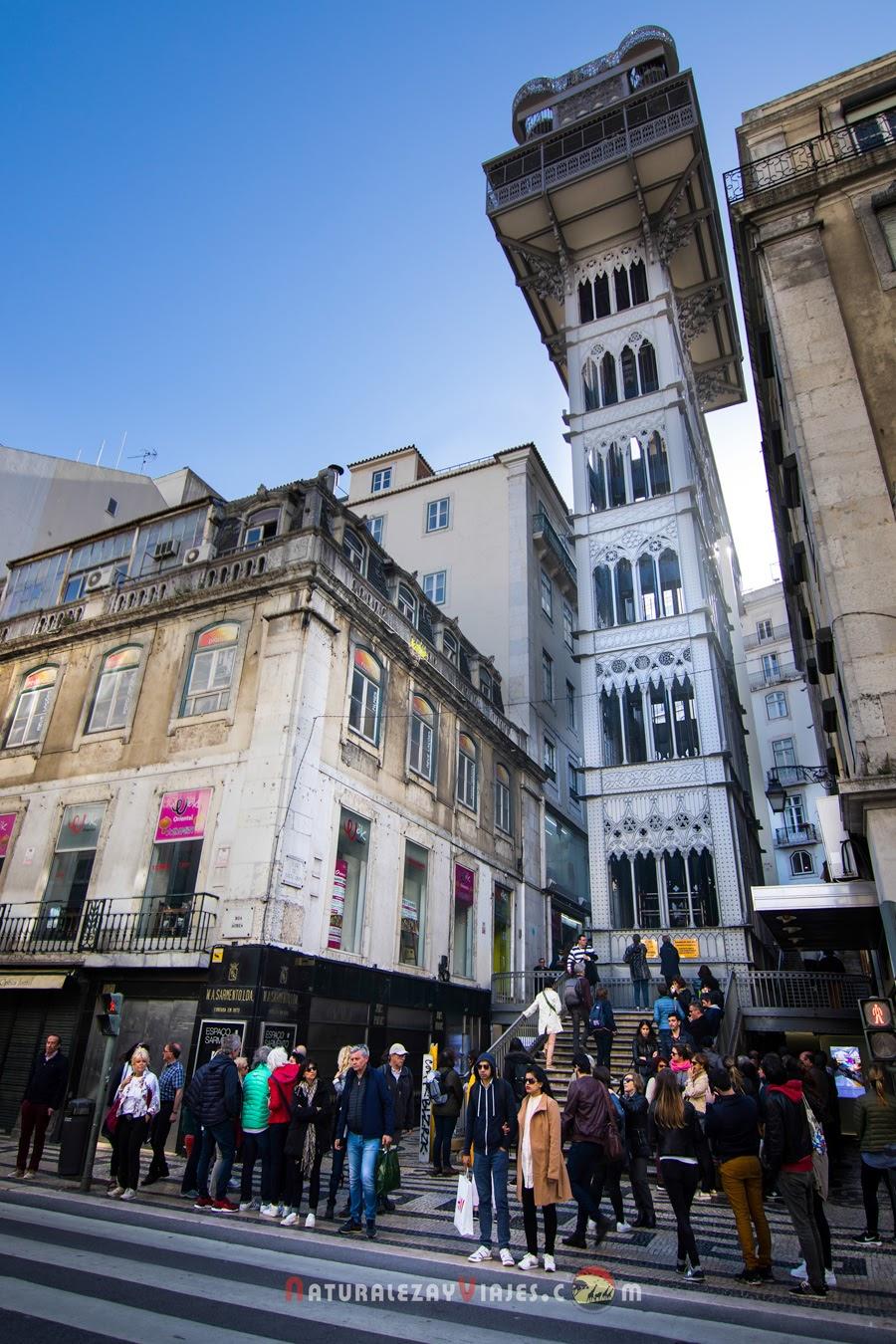 Elevador de Santa Justa, Lisboa en un fin de semana