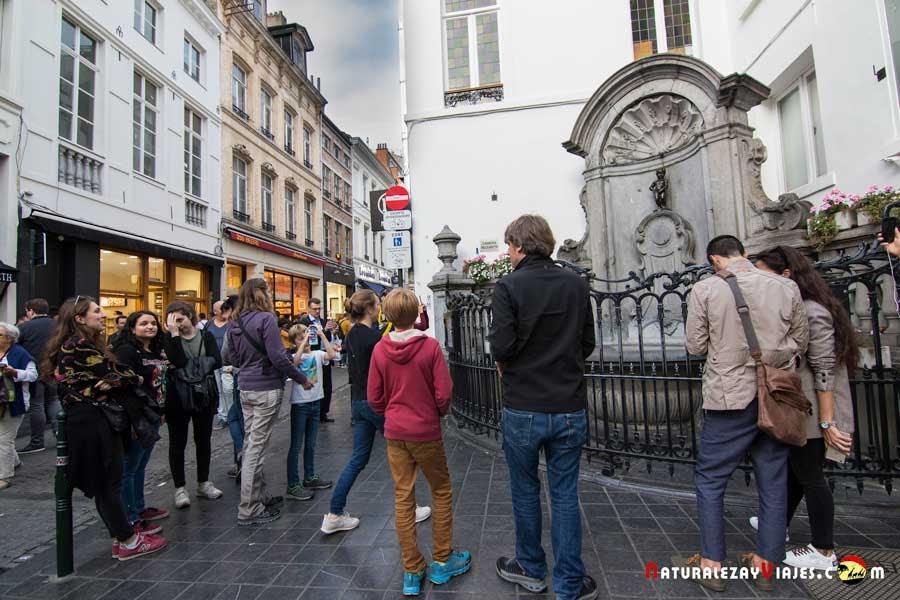 Manneken Pis en Bruselas