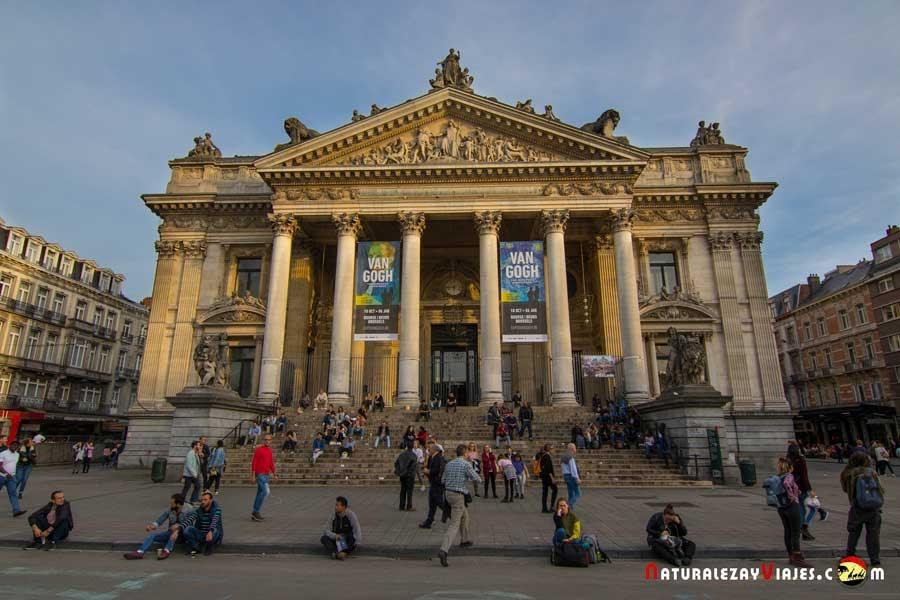 Edificio de la Bolsa de Bruselas
