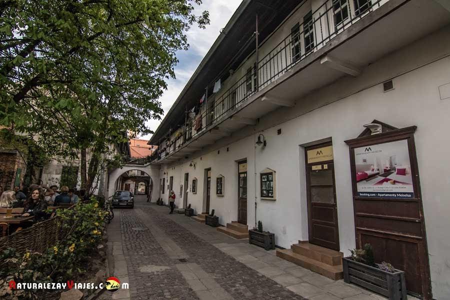 Escaleras Lista de Schindler en Kamizierz, Cracovia