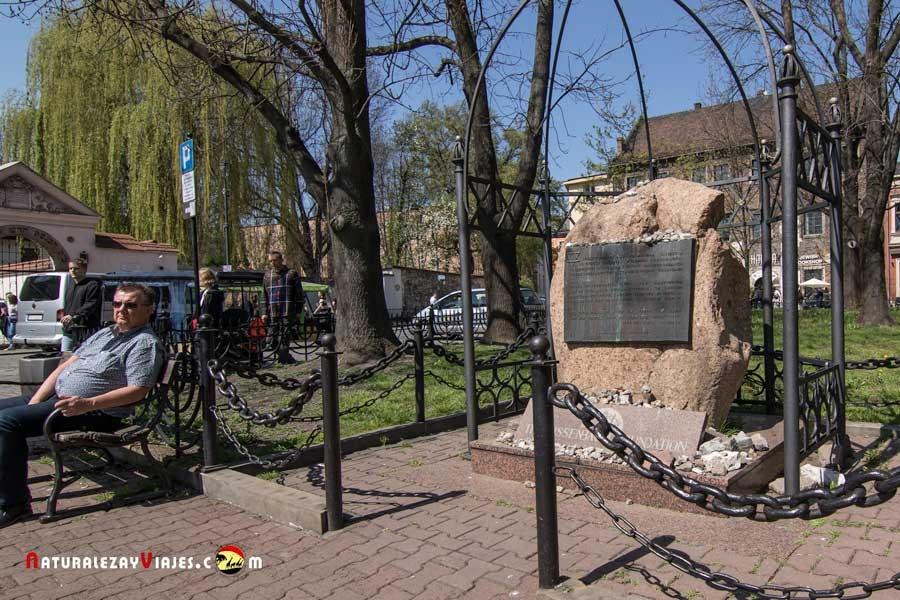 Monumento al Martirio en Kazimierz, Cracovia