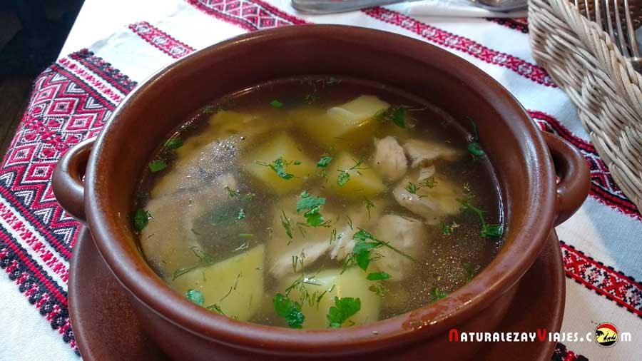 Plato del restaurante Hutorok, Cracovia