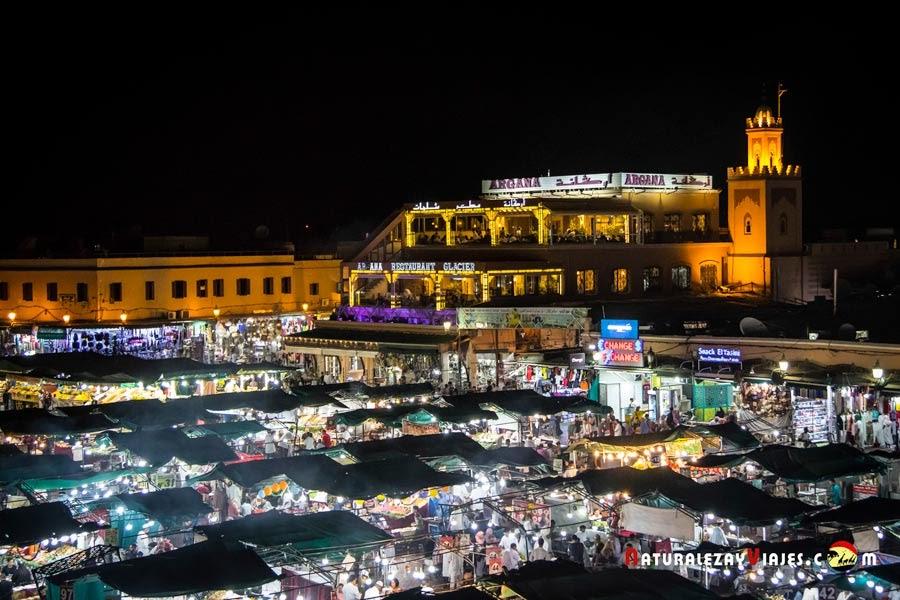 Plaza Jemaa El Fna de Marrakech, Marruecos