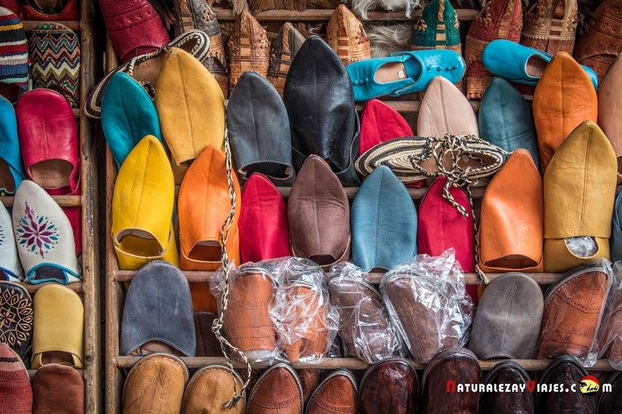 Babuchas en el zoco de Marrakech