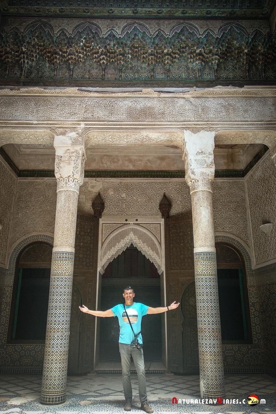 Antonio Ruiz en la Kasbah Telouet, Marruecos
