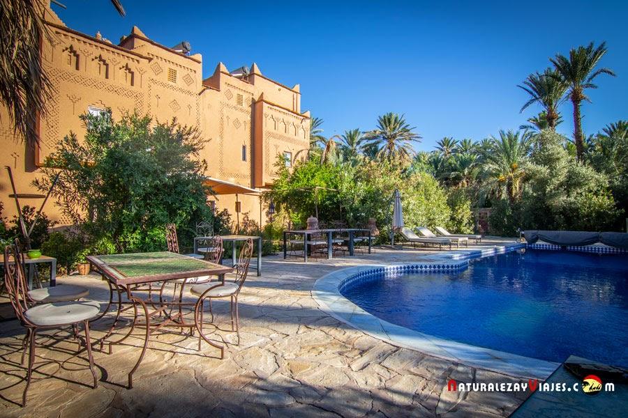 Kasbah Azul, un oasis perfecto en el Valle del Draa, Marruecos