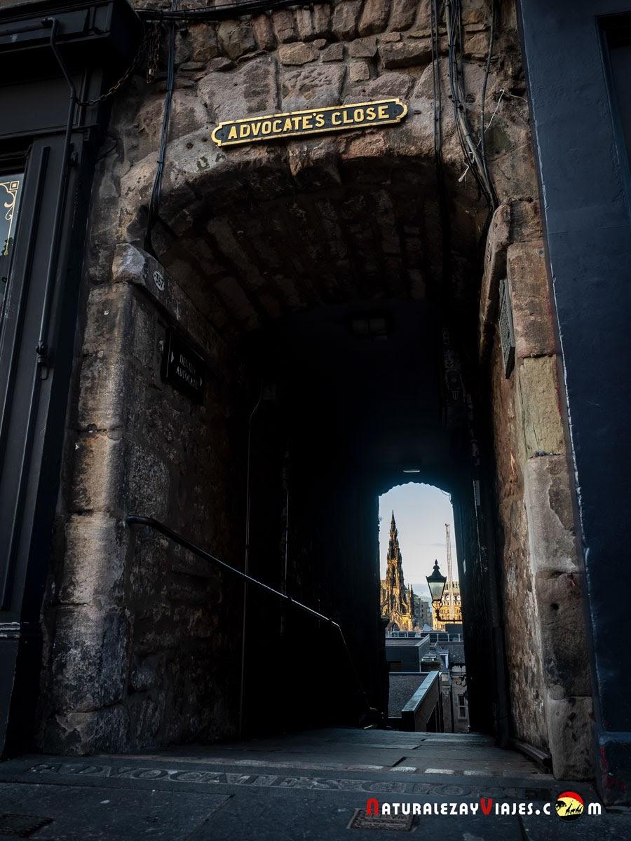 Advocate´s Close en Edimburgo