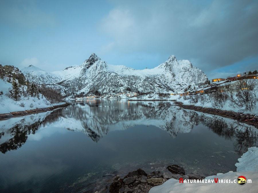Lago Gardsosen, Svolvær, Islas Lofoten