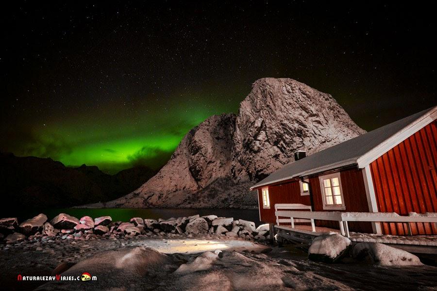 La aurora boreal en las Lofoten