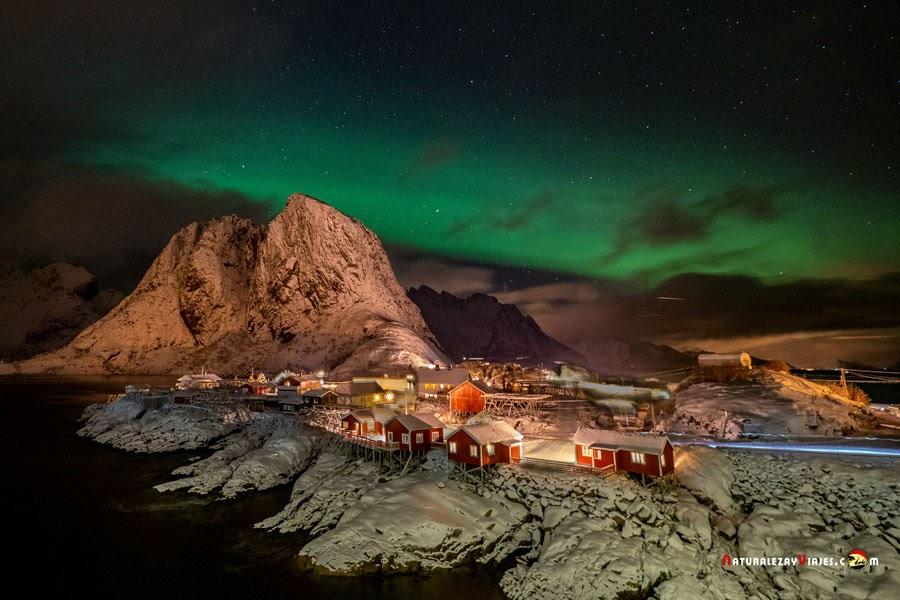 Cuándo y dónde ver auroras boreales en Islas Lofoten, Noruega