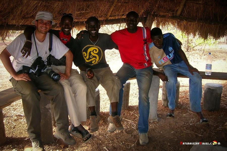 Antonio Ruiz en el Parque Nacional Niokolo-Koba, Senegal