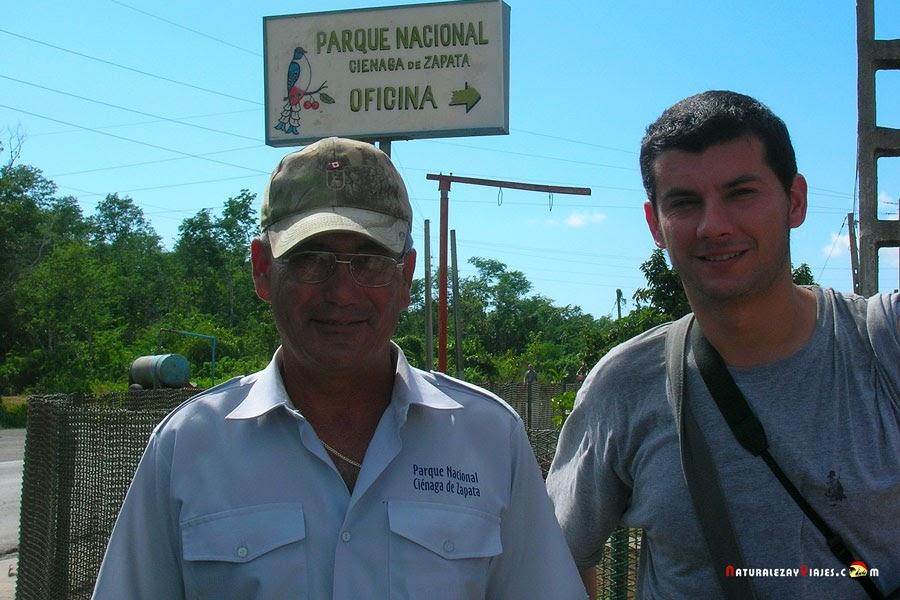 Antonio Ruiz García en el Parque Nacional Ciénaga de Zapata