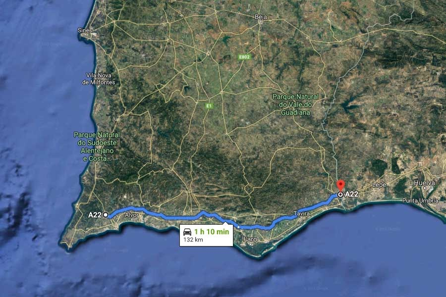 a22 peaje Algarve