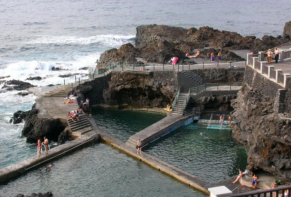 Isla La Palma. Piscinas Naturales La Fajana