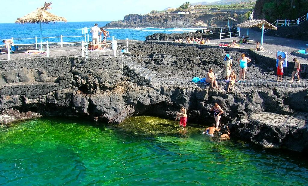 Isla La Palma. Piscinas Naturales Charco Azul