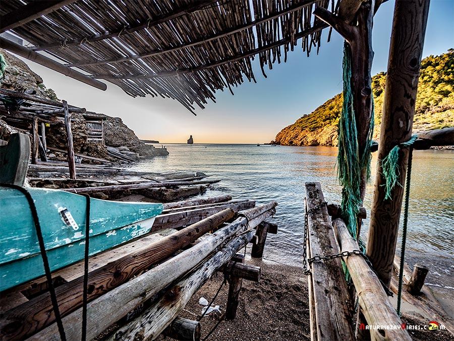Varaderos o casas de pescadores en Ibiza