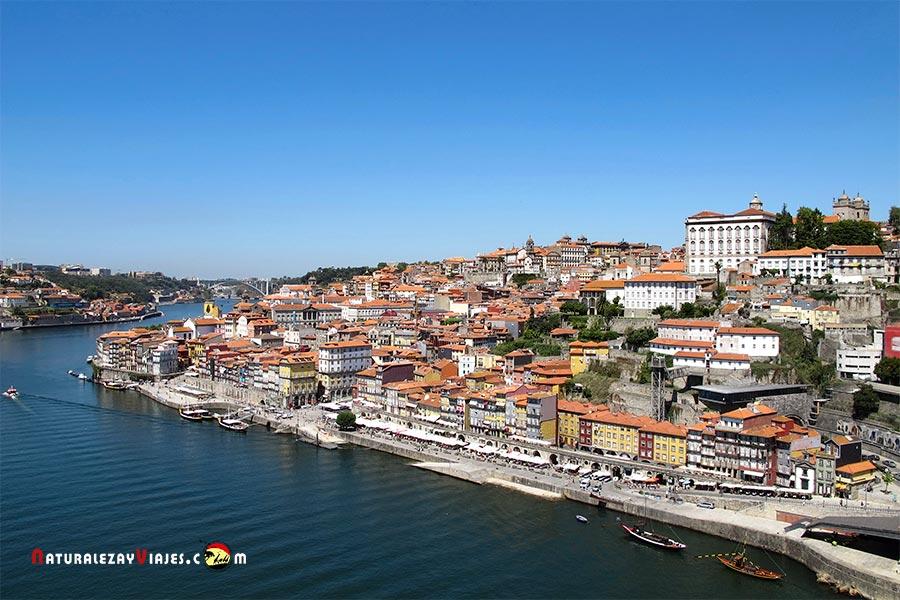 La Ribiera desde el puente de Oporto