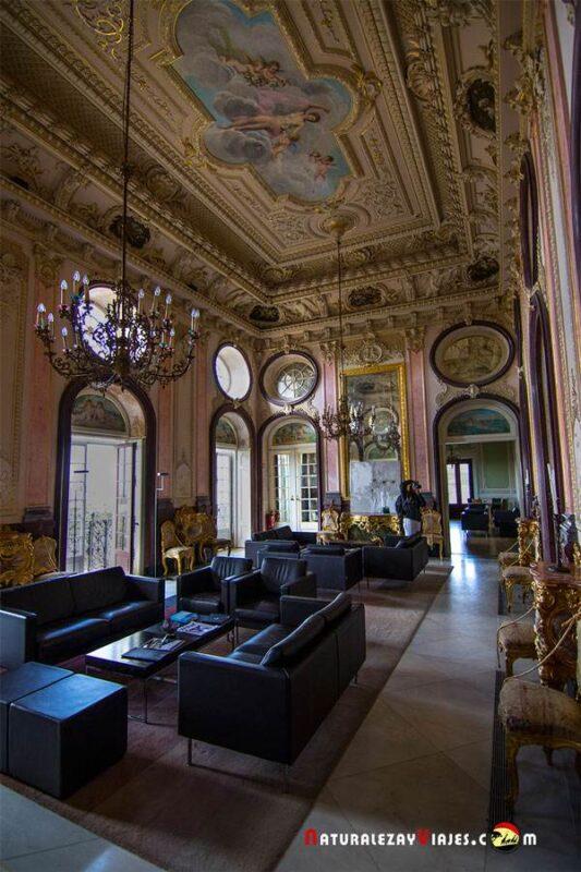Interior del Palacio de Estoi en Faro