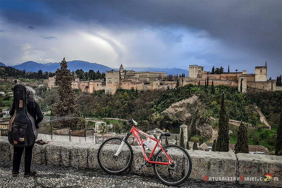 Alhambra de Granada desde Mirador de San Nicolás