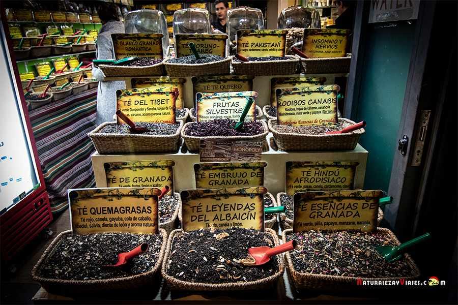 Tienda de tes en Granada