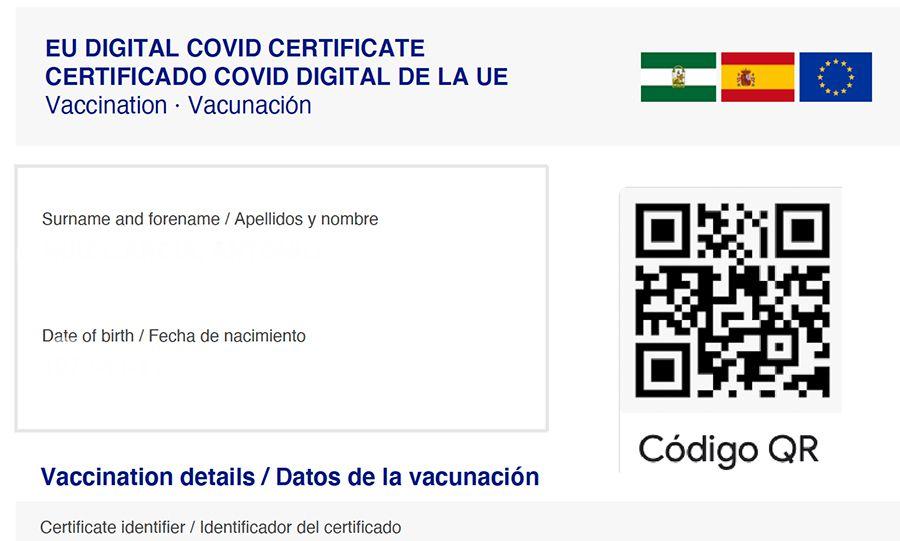 certificado vacunación pcr covid coronavirus