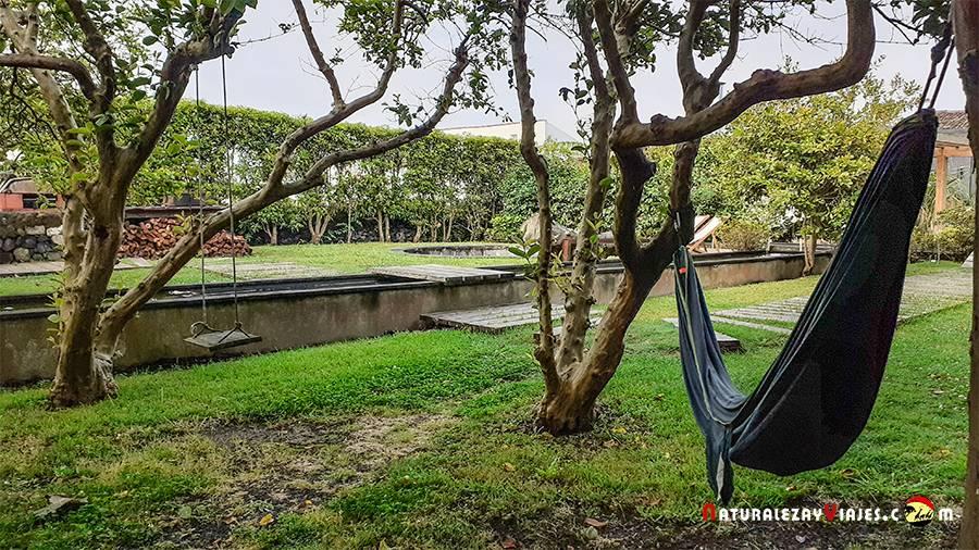 Jardin del hostel