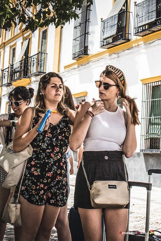 Chicas con calor protector solar